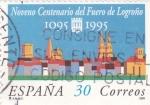 Stamps Spain -  NOVENO CENTENARIO DEL FUERO DE LOGROÑO (7)
