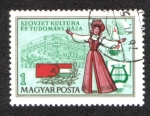 Sellos de Europa - Hungría -  La Ciencia y la Casa de la Cultura Soviética