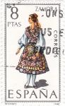 Sellos de Europa - España -  ZAMORA -Trajes típicos españoles (7)