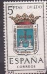 Stamps Spain -  OVIEDO - Escudos de las capitales españolas (7)