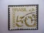 Stamps of the world : Brazil :  Correo Brasil-Cifra, 50 Cts.
