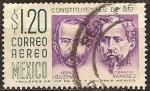 Sellos del Mundo : America : México : Leon Guzman (-1884), Ignacio Ramirez(1818-1879).