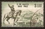 Sellos del Mundo : America : México : Centenario de la Batalla de Puebla estatua del General Zaragoza.