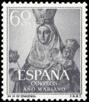 Sellos de Europa - España -  ESPAÑA SEGUNDO CENTENARIO Nº 1137 ** 60C GRIS OSCURO AÑO MARIANO