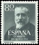 Sellos de Europa - España -  ESPAÑA SEGUNDO CENTENARIO Nº 1142 ** 80C VERDE OSCURO MENENZDEZ PELAYO