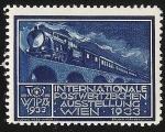 Sellos del Mundo : Europa : Austria : WIPA 1933 / Tren de Vapor