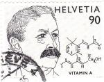 Stamps Switzerland -  Premio Nobel de Química- Paul Karrer
