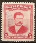 Sellos del Mundo : Asia : Filipinas : Marcelo H.del Pilar( escritor, abogado y periodista).