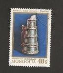Sellos de Asia - Mongolia -  Jarra de té