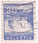 Stamps Switzerland -  Cataratas del Rhin y puente