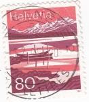 Sellos de Europa - Suiza -  Lago alpino