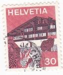 Sellos de Europa - Suiza -  Casa típica