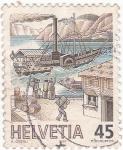 Sellos de Europa - Suiza -  Puerto de mercaderías