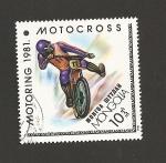 Stamps Mongolia -  Motocross