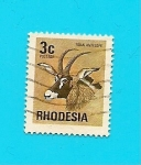 Stamps Zimbabwe -  RHODESIA  Flora y Fauna   Antilope