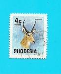 Stamps Africa - Zimbabwe -  RHODESIA  Flora Y Fauna  Antilope