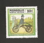 Sellos de Asia - Mongolia -  Bicicletas históricas