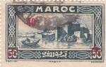Sellos de Africa - Marruecos -  Vista marítima fortaleza de Rabat