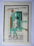 Sellos de America - Uruguay -  Campeonato Mundial de Voleibol-Montevideo Abril 1969