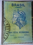 Stamps of the world : Brazil :  Tarifa Postal  Internacional