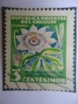Stamps Uruguay -  Pasionaria (Mburucuya)-(Passiflora Coerulea)