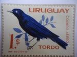 Stamps Uruguay -  Tordo