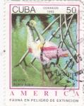 Sellos de America - Cuba -  UPAEP- Fauna en peligro de extinción