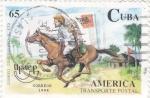 Stamps Cuba -  UPAEP- Transporte Postal