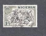 Sellos del Mundo : Africa : Nigeria : Jinetes Bornu