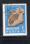 Sellos de Europa - Hungría -  Fósil de Clupea hungarica