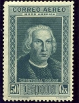Stamps Spain -  Descubrimiento de America. Cristobal Colon