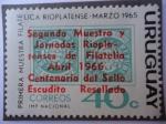 Stamps Uruguay -  Segunda Muestra Filatélica Rioplatense - Abril 1966