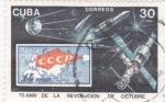 Stamps Cuba -  70 Aniversario de la revolución de Octubre