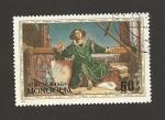 Stamps Mongolia -  Escena obra teatrl Amarsana