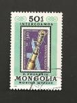 Sellos de Asia - Mongolia -  Estación espacial soviética