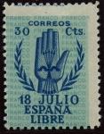 Sellos de Europa - España -  ESPAÑA 853 II ANIVERSARIO DEL ALZAMIENTO NACIONAL