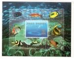 Stamps Asia - China -  H.B. Peces de arrecife de coral   22 congreso U.P.U.