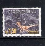 Stamps Bolivia -  Huellas de dinosaurio