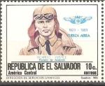 Stamps El Salvador -  50th.  ANIVERSARIO  DE  LA  FUERZA  AÈREA.  RICARDO  ABERLE  PIONERO  DE  LA  AVIACIÒN.