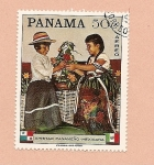 Stamps America - Panama -  Amistad Panama-Mexico   - Trajes Típicos