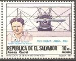 Stamps El Salvador -  50th.  ANIVERSARIO  DE  LA  FUERZA  AÈREA.  BELISARIO  SALAZAR  PIONERO  DE  LA  AVIACIÒN.