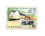 Sellos del Mundo : Africa : Liberia : Centenario de la U.P.U.   Tren y mini-coche correo