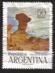 Sellos del Mundo : America : Argentina : Valle de La Luna