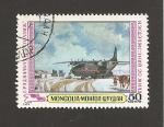 Sellos de Asia - Mongolia -  Avión trayendo provisiones para el invierno