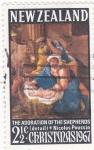 Sellos de Oceania - Nueva Zelanda -  Chrismas-1967 La Adoración