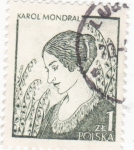 Sellos del Mundo : Europa : Polonia : Karol Mondral -artísta