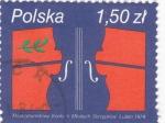 Sellos de Europa - Polonia -  Violín