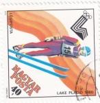 Stamps Hungary -  Salto de Esquí