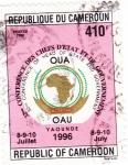 Stamps Cameroon -  32º Conferencia de jefes de Estado y Goviernos