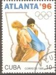 Sellos de America - Cuba -  JUEGOS  OLÌMPICOS  DE  ATLANTA.  LUCHA.